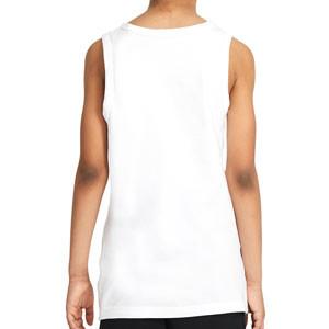 Camiseta tirantes Nike Sportswear Festival Futura - Camiseta sin mangas de algodón Nike - blanca - trasera