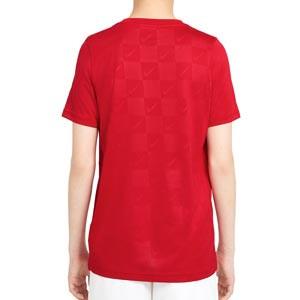 Camiseta Nike Dry Soccer niño - Camiseta de manga corta infantil Nike - roja - trasera