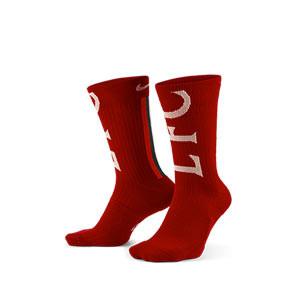 Calcetines Nike Liverpool Sneaker - Calcetines media caña Nike Liverpool FC - rojos
