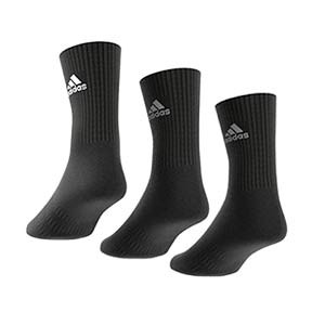Pack calcetines media caña adidas Cushioned Crew 3pp - Pack 3 calcetines de media caña adidas - negros - trasera