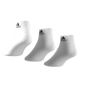 Pack calcetines tobilleros adidas Cushioned 3pp - Pack 3 calcetines tobilleros adidas - blancos - trasera