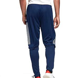 Pantalón adidas Condivo 20 - Pantalón largo de entrenamiento de fútbol adidas - azul marino - trasera