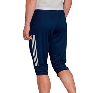 Pantalón pirata adidas Condivo 20 - Pantalón pirata de entrenamiento de fútbol adidas - azul marino - trasera