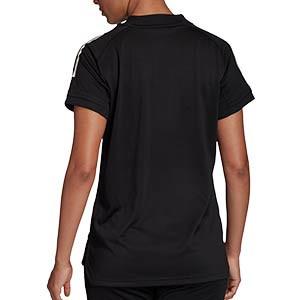 Camiseta adidas Condivo 20 mujer - Camiseta de mujer de entrenamiento de fútbol adidas - negra - trasera