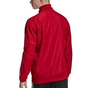 Chaqueta adidas Condivo 20 Presentación - Chaqueta de chándal para fútbol adidas - roja - trasera