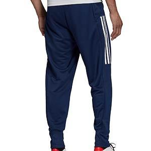 Pantalón adidas Condivo 20 - Pantalón largo de chándal para fútbol adidas - azul marino - trasera