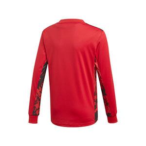 Camiseta adidas Alemania portero niño 19 2020 - Camiseta infantil de manga larga de portero selección alemana 2019 2020 - roja - trasera