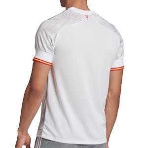 Camiseta adidas 2a España 2021 - Camiseta segunda equipación adidas selección española 2021 - blanca grisácea - trasera