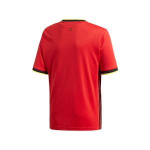 Camiseta adidas Bélgica niño 2019 2020 - Camiseta infantil primera equipación selección belga 2019 2020 - roja - trasera