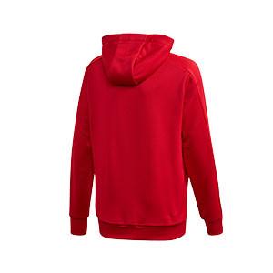Sudadera con capucha adidas Condivo 20 - Sudadera con capucha de entrenamiento de fútbol infantil adidas - roja - trasera