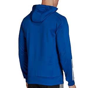 Sudadera con capucha adidas Condivo 20 - Sudadera con capucha de entrenamiento de fútbol adidas - azul - trasera