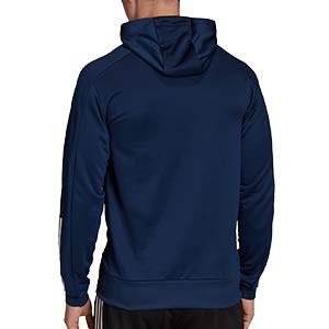 Sudadera con capucha adidas Condivo 20 - Sudadera con capucha de entrenamiento de fútbol adidas - azul marino - trasera