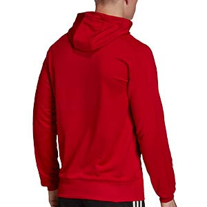 Sudadera con capucha adidas Condivo 20 - Sudadera con capucha de entrenamiento de fútbol adidas - roja - trasera