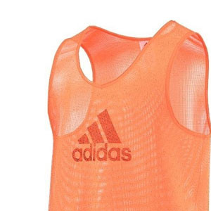Peto adidas Training Bib 14 - Peto de entrenamiento de fútbol adidas - Naranja - frontal