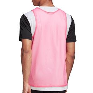 Peto adidas Training Bib 14 - Peto de entrenamiento de fútbol adidas - rosa - trasera