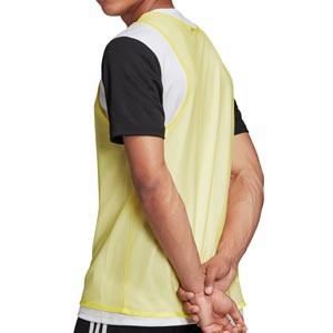 Peto adidas Training Bib 14 - Peto de entrenamiento de fútbol adidas - amarillo - trasera