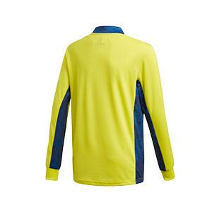 Camiseta portero adidas Adipro 20 GK niño - Camiseta de manga larga de portero infantil adidas - amarilla - trasera
