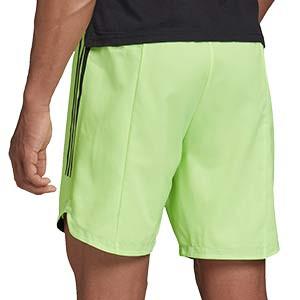 Short adidas Condivo 20 - Pantalón corto de entrenamiento de fútbol adidas - amarillo flúor - trasera