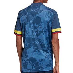 Camiseta adidas 2a Colombia 2019 2020 - Camiseta segunda equipación selección colombiana 2019 2020 - azul marino - trasera