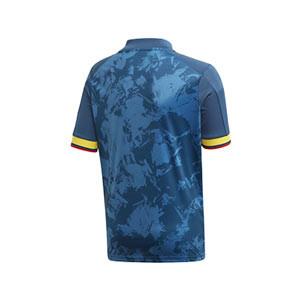 Camiseta adidas 2a Colombia niño 2019 2020 - Camiseta infantil segunda equipación selección colombiana 2019 2020 - azul marino - trasera