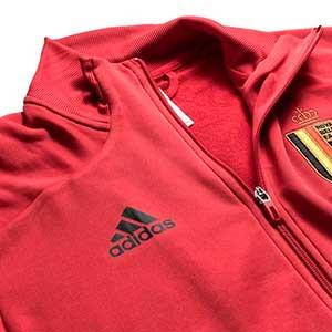 Chándal adidas Bélgica niño 2019 2020 - Conjunto de chándal infantil adidas de la selección belga 2019 2020 - rojo y negro - detalle