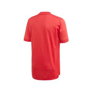 Camiseta adidas Bélgica niño entreno 2019 2020 - Camiseta infantil de manga corta de entrenamiento selección belga 2019 2020 - roja - trasera