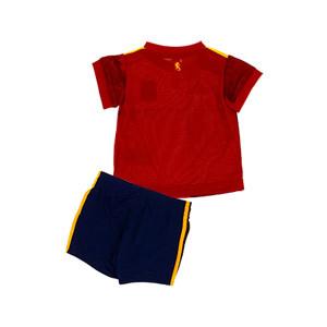 Equipación adidas España bebé 2019 2020 - Conjunto bebé primera equipación selección española 2019 2020 - rojo y azul marino - trasera