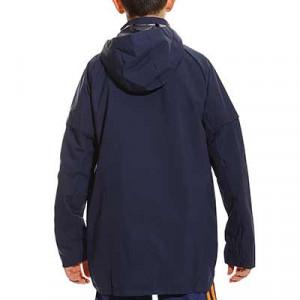 Chaqueta adidas Condivo 20 niño All Weather - Chaqueta con capucha de fútbol infantil adidas - azul marino - trasera