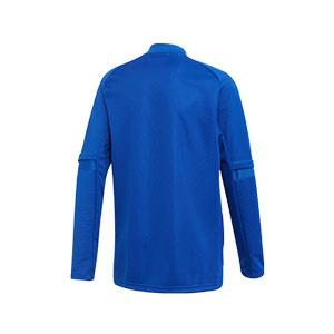 Chaqueta adidas Condivo 20 niño - Chaqueta de entrenamiento de fútbol infantil adidas - azul - trasera