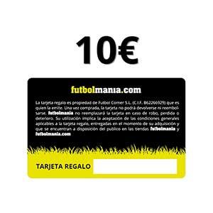 Tarjeta Regalo 10 euros futbolmania - Tarjeta Regalo de 10 euros en futbolmania - trasera