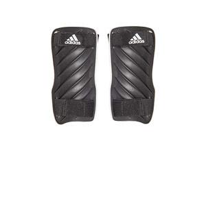 adidas Tiro Training - Espinilleras de fútbol adidas con cintas de velcro - blancas - trasera
