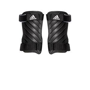 adidas Tiro Training - Espinilleras de fútbol adidas con cintas de velcro - negras - trasera