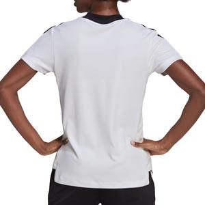 Camiseta adidas Tiro 21 mujer - Camiseta de manga corta de mujer adidas - blanca