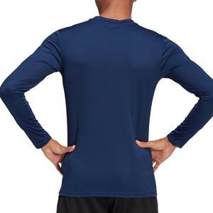 Camiseta compresiva M/L adidas Team - Camiseta entrenamiento compresiva manga larga adidas - azul marino