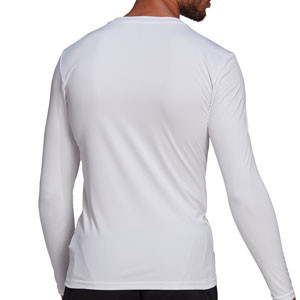 Camiseta adidas Team - Camiseta entrenamiento compresiva manga larga adidas Team - blanca
