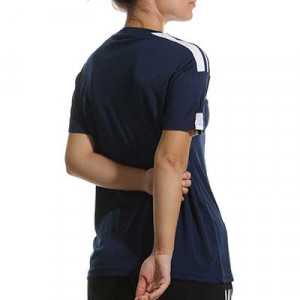 Camiseta adidas Squadra 21 mujer - Camiseta de manga corta de mujer adidas - azul marino - hover