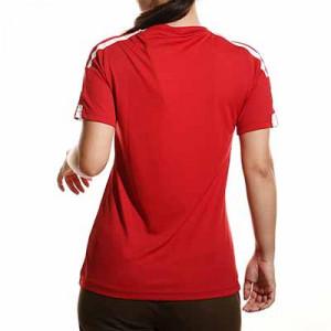 Camiseta adidas Squadra 21 mujer - Camiseta de manga corta de mujer adidas - roja - completa trasera