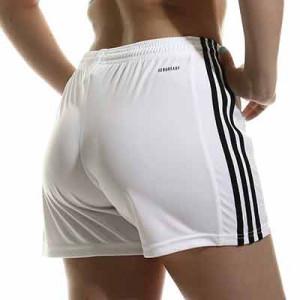 Short adidas Squadra 21 mujer - Pantalón corto de mujer adidas - blanco - completa trasera