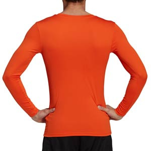 Camiseta compresiva M/L adidas Team - Camiseta entrenamiento compresiva manga larga adidas - naranja