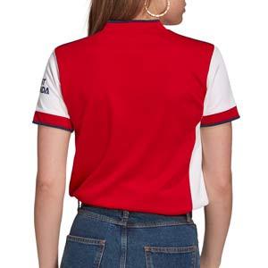 Camiseta adidas Arsenal mujer 2021 2022 - Camiseta mujer primera equipación adidas Arsenal FC 2021 2022 - roja y blanca