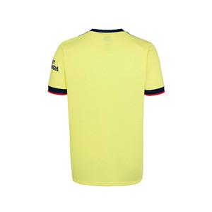 Camiseta adidas 2a Arsenal niño 2021 2022 - Camiseta segunda equipación infantil adidas del Arsenal FC 2021 2022 - amarilla pastel - trasera