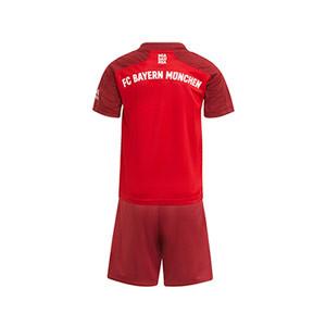 Equipación adidas Bayern niño pequeño 2021 2022 - Conjunto infantil 1-6 años primera equipación adidas Bayern de Múnich 2021 2022 - granate