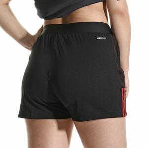 Short adidas Bayern mujer entrenamiento - Pantalón corto entrenamiento de mujer adidas Bayern de Múnich - negro - completa trasera