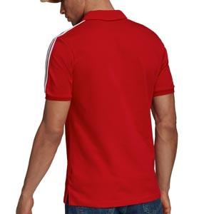 Polo adidas Bayern 3 Stripes - Polo de algodón adidas del Bayern de Múnich - rojo