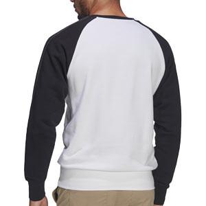 Sudadera adidas Juventus Graphic Crew - Sudadera de paseo de algodón adidas de la Juventus - blanca y negra