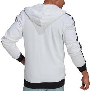 Sudadera adidas 3 Stripes - Sudadera con capucha de algodón adidas de la Juventus - blanca