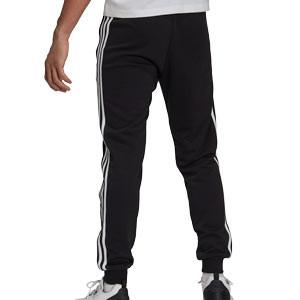 Pantalón adidas Juventus 3 Stripes - Pantalón largo de algodón adidas de la Juventus - negro