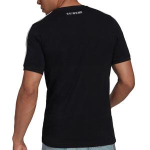 Camiseta adidas Juventus 3 Stripes - Camiseta de manga corta de algodón adidas de la Juventus - negra