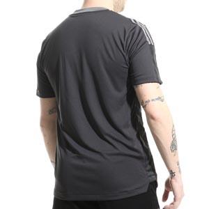Camiseta adidas Juventus entrenamiento - Camiseta de entrenamiento para entrenadores adidas de la Juventus - gris oscura - completa trasera