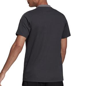 Polo adidas Juventus entrenamiento - Polo de algodón de entrenamiento para entrenadores adidas de la Juventus - gris oscuro